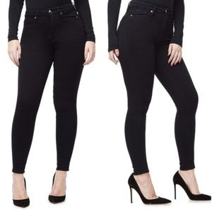 Good American 20 Good Waist Black Skinny Jeans NWT